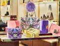 Woman purses in a store in Taormina, Sicily, Italy Royalty Free Stock Photo