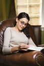 Woman reading book. Stock Photography