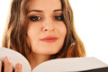 Woman reading a book. Female student learning Royalty Free Stock Images