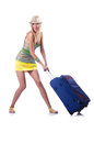 Woman ready for summer vacation Royalty Free Stock Image