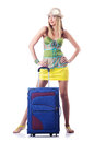 Woman ready for summer vacation Royalty Free Stock Photo