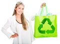 Woman recycling Stock Photo