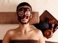 Woman Relaxing With Facial Mas...