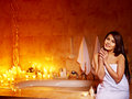 Woman relaxing at home bath luxury Stock Photography