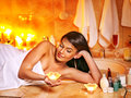 Woman relaxing at home bath luxury Stock Image