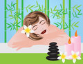 Woman Relaxing in Spa Illustration Royalty Free Stock Photos