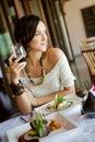Žena v reštaurácia