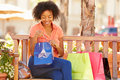 Woman Resting With Shopping Ba...