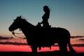 Mujer caballo en