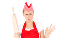 Woman with a rolling pin Stock Image