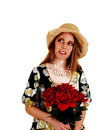 Woman with roses. Stock Photos