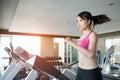 Woman run on treadmill