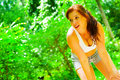 Woman Runner In The Woods Royalty Free Stock Photo