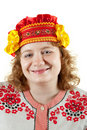 Woman in Russian folk clothes Stock Image