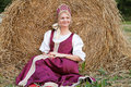 Woman in Russian traditional costume Royalty Free Stock Photo