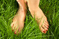 Woman's bare feet Royalty Free Stock Photography