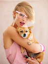 A woman's best friend Royalty Free Stock Photo