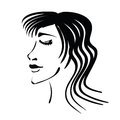 Woman s face illustration with for your design Stock Images