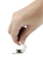 A woman s hand holding a cigarette Royalty Free Stock Photo
