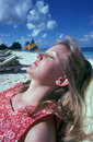 Woman's Tropical Relaxation Royalty Free Stock Photo