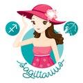 Woman With Sagittarius Zodiac Sign Royalty Free Stock Photo