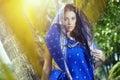 Woman in sari Royalty Free Stock Photo
