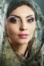 Woman scarf beautiful arabic wearing head Stock Photography