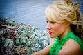 Woman at sea Royalty Free Stock Photo