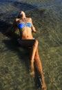 Woman bikini water Royalty Free Stock Photo