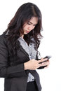 Woman search phone Royalty Free Stock Image