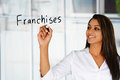 Woman Selling Franchises Royalty Free Stock Photo