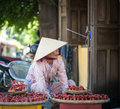 A woman selling souvenirs in Hoi An, Vietnam Royalty Free Stock Photo
