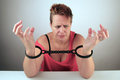 Woman in shackles Royalty Free Stock Photography