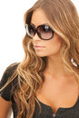 Woman in shades Royalty Free Stock Photo