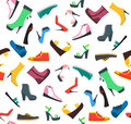 Woman Shoes Background Pattern. Vector