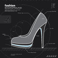 Woman shoes design. Vector. Stock Image