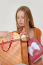 Woman with shopping Royalty Free Stock Photography