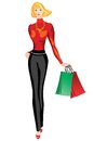 Woman with shopping. Royalty Free Stock Photo