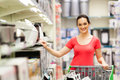 Woman shopping appliance Stock Photography