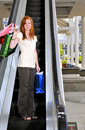 Woman Shopping Bags Stock Photos