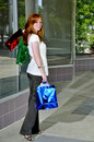 Woman Shopping Bags Stock Photography