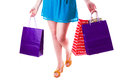Woman with shopping bags Royalty Free Stock Photos