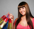 Woman with shopping bags beautiful Royalty Free Stock Photo
