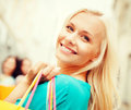 Woman with shopping bags in ctiy and tourism concept beautiful Royalty Free Stock Photos