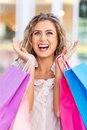 Woman with shopping bags young Royalty Free Stock Photo