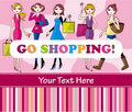 Woman shopping card Stock Photo