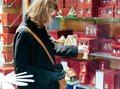 Woman shopping christmas gifts Royalty Free Stock Photo