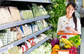 Woman shopping groceries Royalty Free Stock Photos