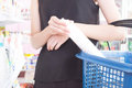 Woman Shopping In a Grocery Store Royalty Free Stock Photo