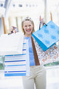 Woman shopping in mall Stock Image
